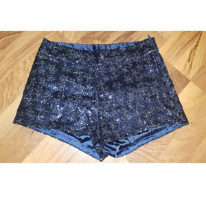 4/$25 Forever 21 Med Sequin Shorts Snowflake X88